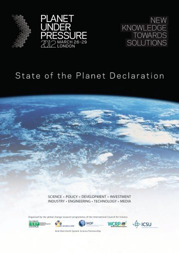 State of the Planet DeclarationPDF - Project Cobra
