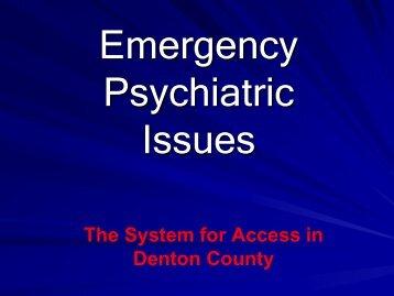 Denton County Sheriff's Office Mental Health Investigative Unit