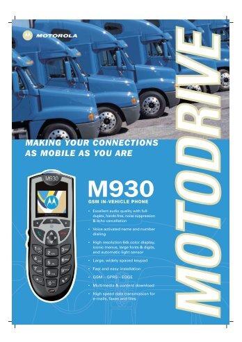 M930 Spec Sheet - Sigma Wireless