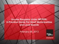 A Practical Guide For Small Municipalities and Local ... - Hicks Morley