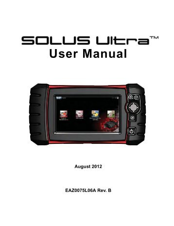 solus user manual snap on rh yumpu com Snap-on Solus Edge Snap-on Solus Pro Scanner