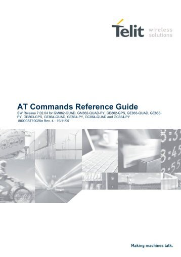 AT Commands Reference Guide - Libelium