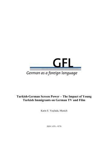 Turkish-German Screen Power – The Impact of Young ... - GFL-Journal