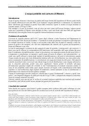 Qualità dell'acqua potabile in comune di Cuggiono - Agenda 21 Est ...