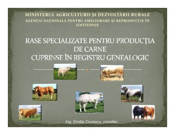 MINISTERUL AGRICULTURII ŞI DEZVOLTĂRII RURALE - anarz