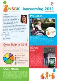 Jaarverslag 2012 - Nederlandse Stichting voor het Gehandicapte Kind