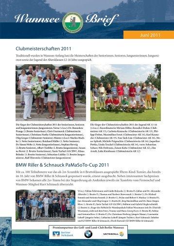 Wannsee Brief Juni 2011 - Der Golf- und Land-Club  Berlin ...