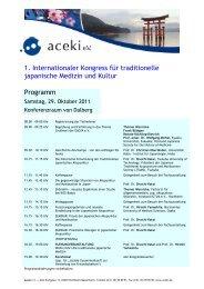 Kongressprogramm Samstag, 29. Oktober 2011 - japan-medizin ...