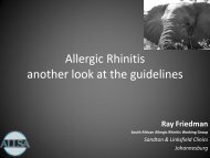 Allergic Rhinitis another look at the guidelines