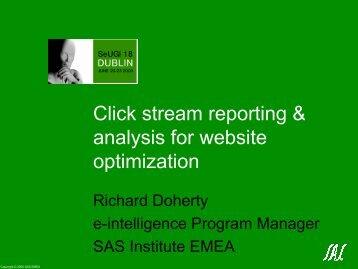 click stream reporting - sasCommunity.org