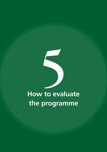 How to evaluate the programme - libdoc.who.int