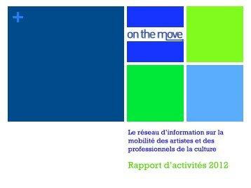 Rapport d'activités 2012 - On the Move