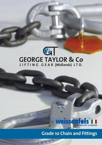gt grade10 chain and fittings mini brochure - George Taylor ...