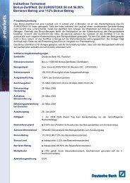 Indikatives Termsheet Bonus-Zertifikat: DJ ... - Börse Stuttgart