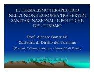 il termalismo terapeutico nell'unione europea tra servizi sanitari ...