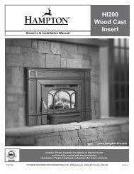 HI200 Wood Cast Insert - Regency Fireplace Products