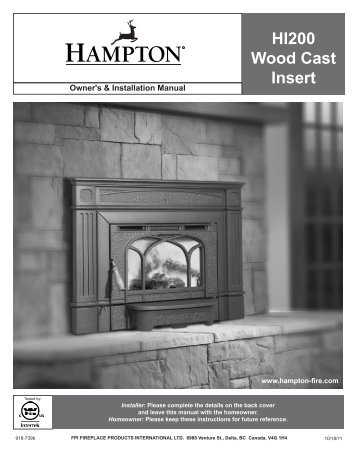 HI200 Wood Cast Insert - Regency Fireplace Products