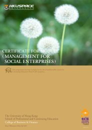 management for social enterprises - HKU School of Professional ...