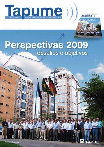 Conquistas de 2008 e desafios para 2009 - HOCHTIEF do Brasil