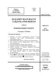 EGZAMIN MATURALNY Z JĘZYKA POLSKIEGO - Gazeta.pl