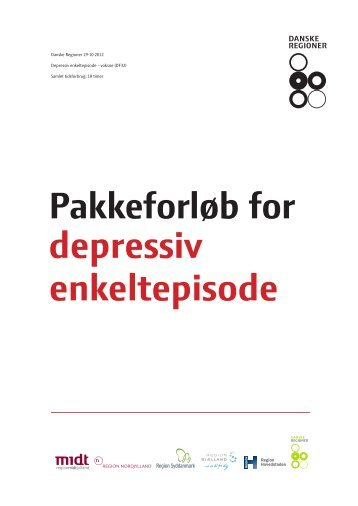 Pakkeforløb for depressiv enkeltepisode