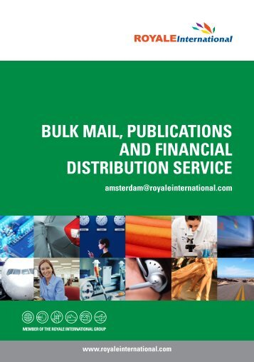 bulk mail, publications and financial distribution service - Royale ...