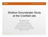 Shallow Groundwater Study at the Cranfield Site