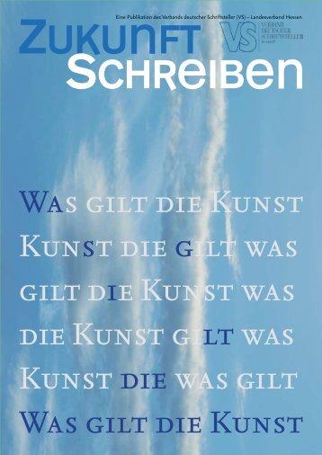 zukunft schreiben - Verband deutscher Schriftsteller ...