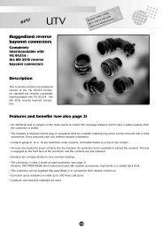Download Souriau UTV Ruggedized Metal MS 5015 Connectors PDF