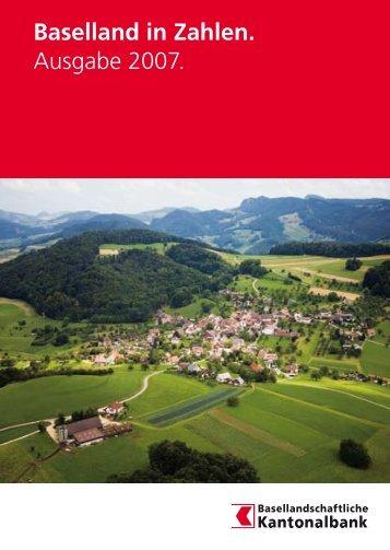Ausgabe 2007, 25 Seiten - Statistik Baselland - Kanton Basel ...