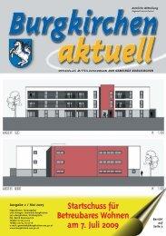 Ausgabe 2, Mai 2009 - Burgkirchen