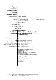Curriculum Vitae Europass - ASL AL