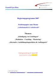 Kündigung von Lehrlingen - Stand 01. Mai 2007 - Egon Blum