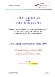 Broschüre Lehrlingsentwicklung Ende November 2007 ... - Egon Blum