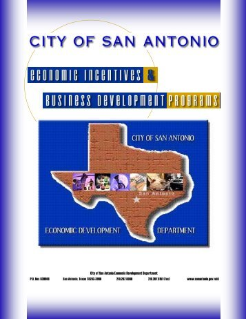 city of san antonio economic development department