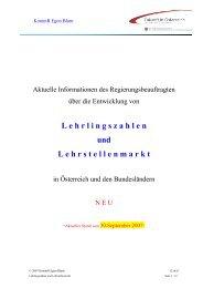 Lehrlingszahlen und Lehrstellenmarkt - Stand 31 ... - Egon Blum