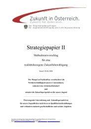 Strategiepapier II des Regierungsbeauftragten - Egon Blum