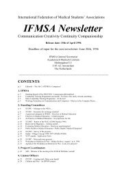 IFMSA newsletter