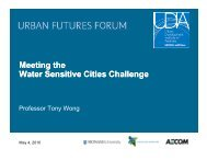 Professor Tony Wong - Urban Development Institute of Australia