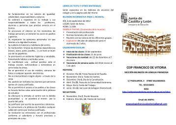 pincha aquí - CEIP Francisco de Vitoria - Junta de Castilla y León