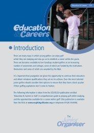 Junior Organisers Handbook: Education & Careers in ... - England Golf