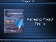 Chapter 11 Manage Project Teams