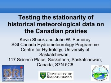 Testing the stationarity of historical meteorological data on the ...
