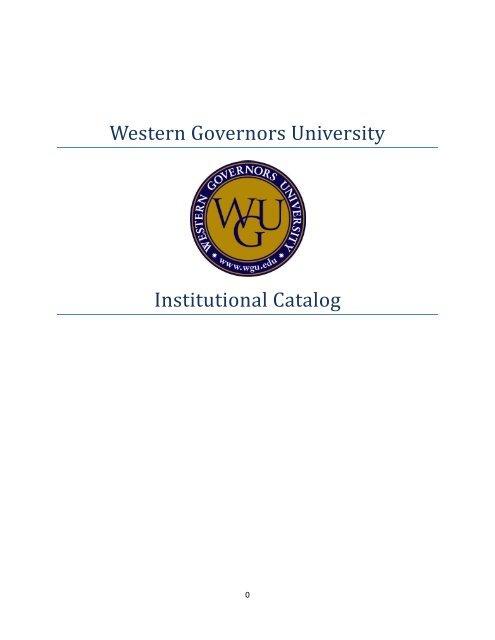 WGU Institutional Catalog - Western Governors University