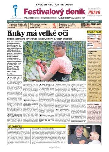 Kuky má velké oči - Mezinárodní Filmový Festival Karlovy Vary
