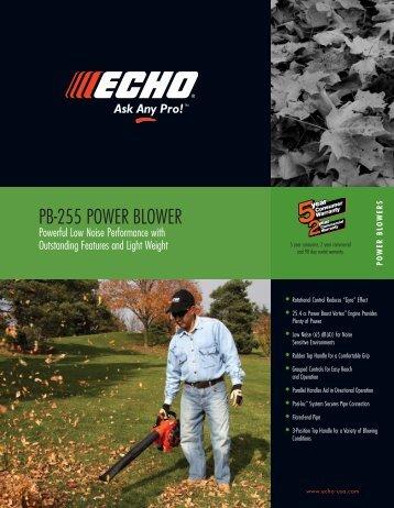 PB-255 POWER BLOWER