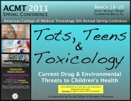 ClickHere - American College of Medical Toxicology