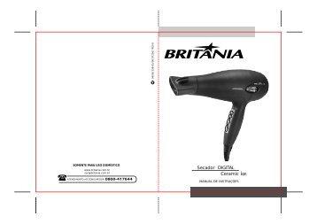 339 05 00 Rev0 Folheto de Instruções Secador Digital ... - Britânia
