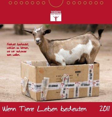 Wenn Tiere Leben bedeuten 2011 - Tierärzte ohne Grenzen eV