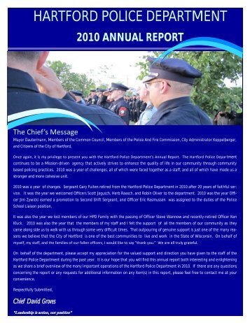 2010 Annual Report - City of Hartford